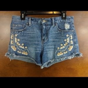 Distressed Free People Cut Off Shorts